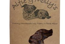 Dog Treats - Alfie & Molly / Alfie and Molly make homemade dog treats which are freshly baked in their own human grade kitchen, never out sourcing any of our production to ensure the highest quality. They are committed to never using any animal or vegetable derivatives, fats, sugars, colourants or preservatives or any other artificial ingredients.
