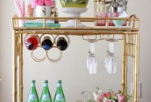 Styled Bar Carts- yes please!