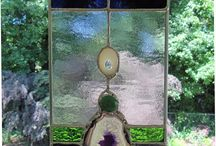 Agate panel stained glass