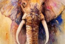 My Animal Art / Animals painted with Watercolors