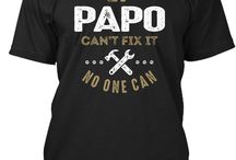 PAPO TEES / Gift ideas for Papo Tees, Hoodies and Long-sleeves available in the style and color of your choice! By Cido Lopez