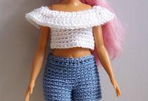 Barbie crochet clothes
