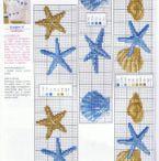 Mare punto croce/decorazioni