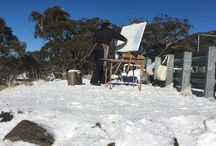 Sally West Snow Series - Paintings of the Snow / Ski fields