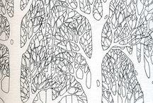 i colori della natura: disegni e vetro