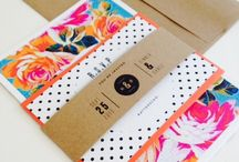 Colourful Stationery / Colorful Stationery, Paper Products, Invitations, Menus