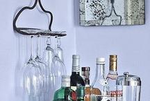 Licorero, mueble bar y vajillas
