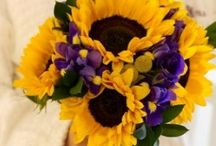 Wedding - teal and sunflowers