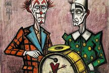 clowns - drawing -  painting