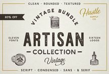 Vintage fonts / Some great Vintage fonts we use in our media products, all sourced from Creative Market.