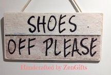 Quality No Shoes Wood Signs: Please Remove Shoe or Shoes Off Please Sign