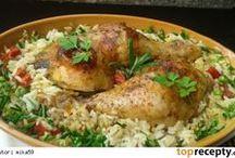 kuřecí stehna pečená s ryží