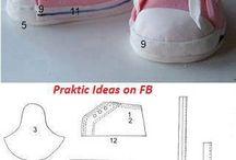 Sapatos de Crianças / Modelos e moldes de sapatos para crianças feitos de materiais diversos.