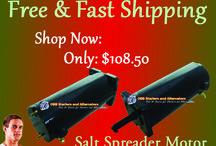 Salt Spreader Motors / Fisher Ag & Industrial Salt Spreader  Western Products Ag & Industrial Salt Spreader.