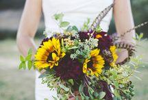 Autumnal Bridal Bouquets