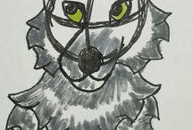Wolf Drawings