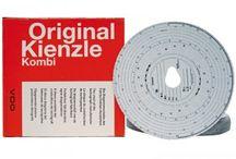 Dischi Tachigrafo / Dischi tachigrafo digitale KIENZLE per cronotachigrafi digitali o manuali 125-24 EC 4K rotoli carta per tachigrafo digitale confezione da 3 pezzi.