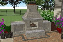 Fire Pit and Outdoor Fireplace Designs for Your Patio / View our easy to install fire pit and fireplace designs.  Download installation plans at MyPatioDesign.com