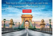 Cosmos Budget Tours / For over 50 years, Cosmos has offered savvy, value-minded travelers, like you, the most affordable travel packages to the world's most captivating places. Cosmos offers several trips for just $999. https://www.atlastravelweb.com/tours/cosmos-tours