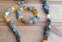 Amber jewellery sets