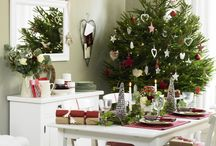 Christmas dining room ideas / Create a beautiful setting for Christmas lunch with these stunning dining room ideas.