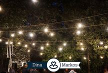 String Lighting Application | Dina & Markos | Ikaria Island | July 2016 / A massive setup of 200m of String Lights, installed for the Traditional Destination Wedding of Dina and Markos, in Ikaria Island