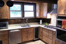 Rustic Alder -- Natural Kitchen / Specie: Rustic Alder Finish: Natural Door: Amesbury Overlay: SOLK Lipped Drawer Front: Slab  Designer: Dave Humerick @ Cabinet Discounters -- Mt. Airy, MD
