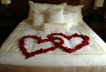 Wedding bedroom decor