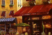 French bistro art