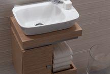 Toilet basin cabinet