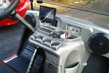Custom golf cart stereo systems