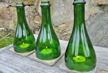 Champagne Bottle Goods for the Home / Recycling sparkling wine / champagne bottles into home goods
