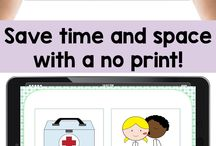 No print speech therapy materials