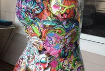 Graffiti mannequin