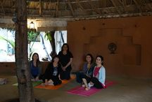 Yoga and Workshops at Gaia Bangalore / On our 2014 Sojourn to Southern India our group spent time at Gaia Bangalore for yoga and workshops. The Yoga Pavilion is an octagonal shaped structure made of natural products from India.