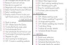 Wedding planning / Advice and guidance for planning that big day xx
