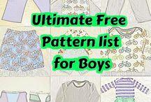 boys Sewing patterns