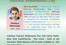 National Mathematics Day India - 22nd December