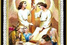 Jézus felé az angyali testvérek holdolata