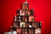 Árvores de Natal Criativas / Inspirações e ideias para quem deseja fugir fugir da árvore de natal tradicional ;)