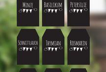 Printables - Labels - Etiketten / Beschriftung, Geschenkanhänger, Anhänger und Sticker