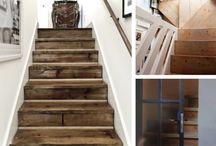 Oude houten trappen