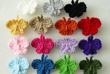 Crochet Butterfly Hair Clips with No Slip Grip 15 by CrochetbyLily, $15.00