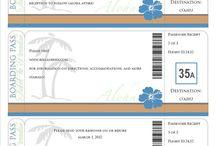 Boarding Pass Invitations / Invitations