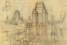 Architectural Drawings and Watercolours