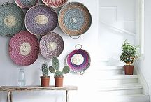 Wall displays / Made out of baskets, plates, pictures, frames or whatever you can hang!