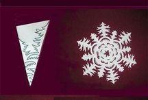 Papírové vločky - vánoce