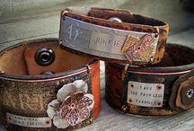 Bead Addiction leather bracelets