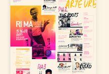 Manifesti e grafica / Grafica evento manifesti e ispirazioni