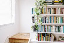 Personal library / Shelves for days / by Ester